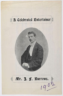 Mr. J.F. Burrows: A Celebrated Entertainer
