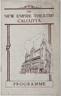The New Empire Theatre, Calcutta, Programme