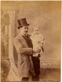 Edward Reno with Infant Card Photograph