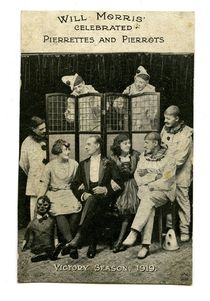 Will Morris' Pierrettes and Pierrots Photograph Postcard