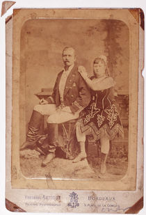 Colonel E. Daniel Boone and Miss Milli Carlota Cabinet Card