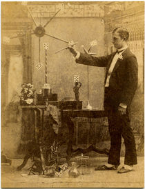 Magician with Wand Card Photograph