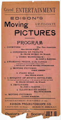 Edison's Moving Pictures Playbill