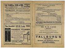 Thurston at the Victoria Theatre Program