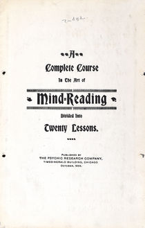 A Complete Course in the Art of Mind-Reading