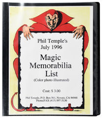 Phil Temple's July 1996 Magic Memorabilia List (Color Photo Illustrated)