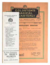 Goldston's Magical Quarterly, Autumn Issue 1935
