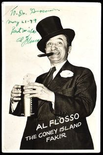 Al Flosso Postcard, Signed