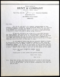 Hunt and Company Gambling Letter