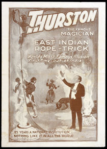 Howard Thurston East Indian Rope Trick Advertisement