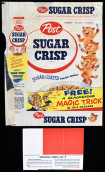 Blackstone Cereal Wrapper and Magic Trick