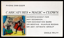 "Lenticular Business Card, ""Uncle Milty"""