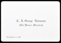 Newmann, The Pioneer Mentalist Business Card