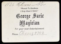 George Saric, Magician Throw-Out Card