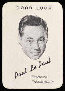 Paul Le Paul U.S.O. Good Luck Card