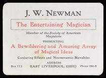 J.N. Newman Throw-Out Card