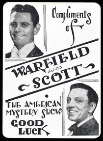 Warfield and Scott Good Luck Card