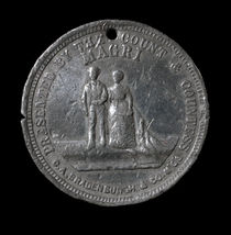 Count and Countess Magri (Lavinia Warren) Wedding Token