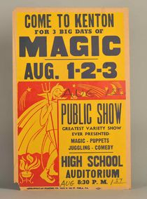 Come to Kenton Magic Show Window Card