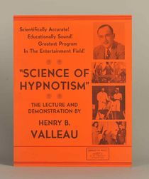 "Henry Valleau ""Science of Hypnotism"" Window Card"