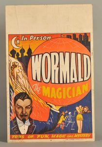Wormald the Magician Window Card