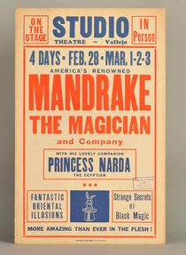 Mandrake the Magician Window Card