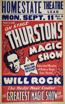 Thurston's Magic Show Window Card