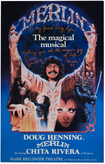 Doug Henning Signed Merlin Window Card