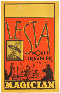 Lesta, World Traveler, Artist, Magician Window Card