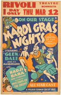 Mardi Gras with Hadji Baba Window Card