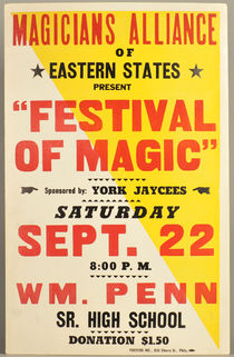 Magicians Alliance of Eastern States Window Card