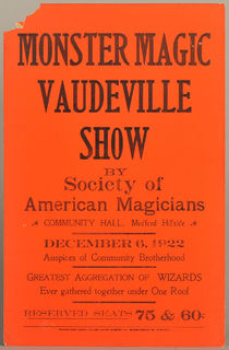 Monster Magic Vaudeville Window Card